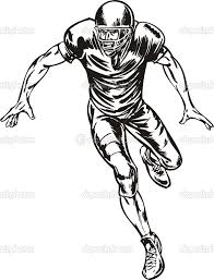 Football player tackling clipart