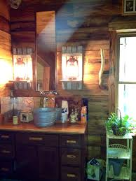 galvanized bucket sink with wall mount faucet diy electrified lanterns with barnwood shelves and barnwood walls