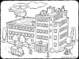 Ziekenhuis Kleurprenten Kiddicolour