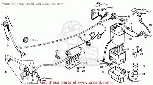 honda ct70 trail 70 k4 1975 usa wire harness ignition coil wire harness ignition coil battery schematic