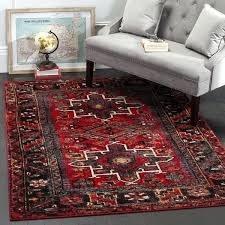 area rugs 10 x 14 vintage traditional red multi large rug modern