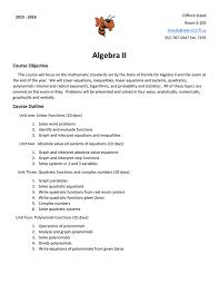 algebra 2 syllabus 15