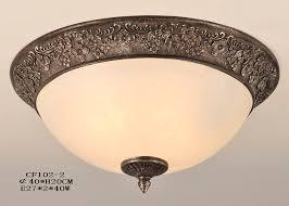 led ceiling light fixtures wide peach glass bronze