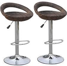 adjustable height swivel bar stool. Amazon.com: HomCom Modern Adjustable Pub Swivel Barstool 2 Pack - Rattan Wicker: Kitchen \u0026 Dining Height Bar Stool