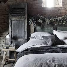 light grey linen bedding scandi