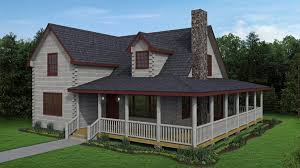 log cabin with the perfect wrap around porch dine and relax in the open