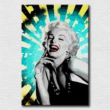 home decoration shining marilyn monroe oil painting canvas wall pop art pictures oil painting for living room aliexpress mobile