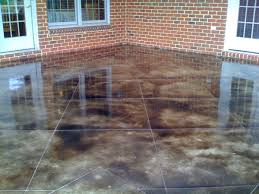 stained concrete patio ideas how do you stain concrete how to do concrete garage floor