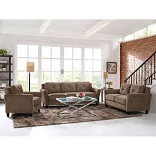 complete living room sets. harris teardrop-arm 3-piece living room set, brown complete sets