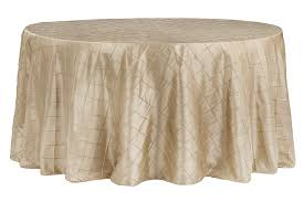 pintuck 120 round tablecloth champagne