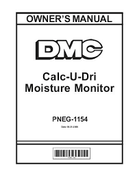 6 parts list design iii pneg 1154 david manufacturing co