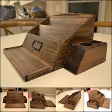 wooden poplar desk organizer woodworking executive office plans