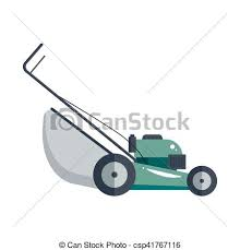 lawnmower drawing. lawn mower machine icon technology equipment tool, gardening grass-cutter - vector stock. lawnmower drawing o