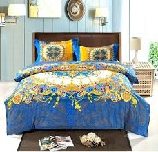 boho bedding set bedding sets full blue bohemian bedding set queen king size style duvet intended