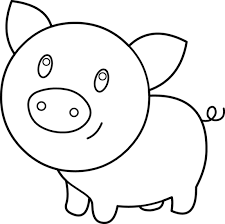 Cartoon Pig Black And White Clipart Best Summer