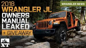 2018 jeep manual. unique jeep 2018 jeep wrangler jl owners manual u0026 guide leaked to jeep manual d