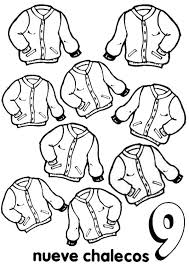 Small Picture Learn Number 9 with Nine Jackets Coloring Page Bulk Color