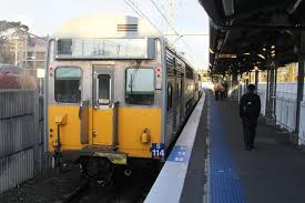 S114 on arrival at Lidcombe station ...