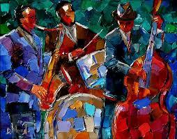 jazz art abstract painting instruments paintings by debra hurd