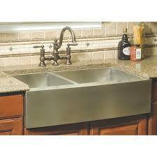 36 inch stainless steel curved front farm a 40 60 double bowl kitchen sink