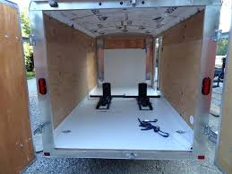 stunning enclosed trailer flooring bathroom wall cover sheets w liquid nails and silicone edges material floor