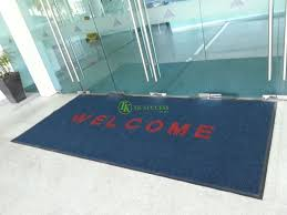 welcome tough rib mat with edging wet dry