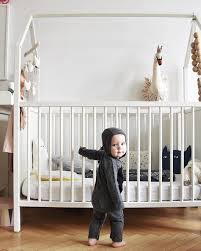 The baby crib that becomes a toddler bed: the Stokke Home cradle credit: @