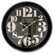 extra large le chene metal wall clock