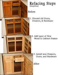 the steps of refacing your cabinets i actually like the before