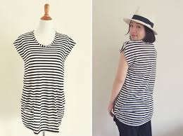 Tunic Pattern Free Beauteous DIY Striped Tunic Top For Pregnancy And Beyond Free Sewing Pattern