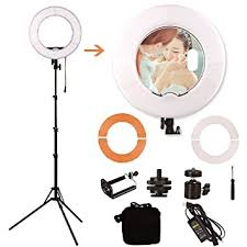 makeup light stand. ginson 12 inch 180led mirror ring light with stand,makeup artist light, photography lights makeup stand c