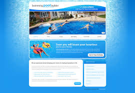 Pool Cleaning Website Template 25705