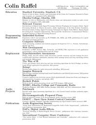 Latex Resume Amazing 5318 Résumé Or Curriculum Vitæ CV In LaTeX Alec's Web Log