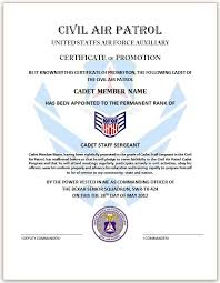 certificate of promotion template appreciation award ce air force officer promotion certificate