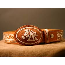 western clothing mens mexican belt buckle charro hand stitched