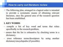 Writing a Literature Review  handout Researching Academia   WordPress com