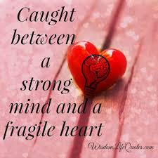 Strong Mind Quotes Cool Caught Between A Strong Mind And A Fragile Heart Wisdom Life Quotes