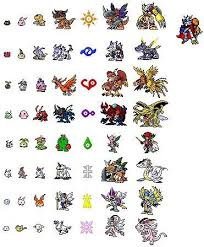 Digimon Digivolution Chart Season 1 Digimon Adventure Sprites By Tomma291 On Deviantart
