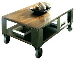 industrial coffee table with wheels industrial coffee table with casters square wheels pertaining to on inspirations industrial coffee table