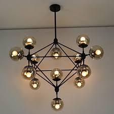 glass ball lighting. Chandeliers 15 Lights Glass Ball Retro Living Room Hallway Outdoors Garage Metal Lighting R