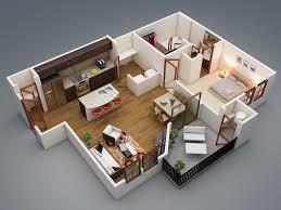 General: Twin Arbors Floor Plan - 1 Bedroom Apartment Plan