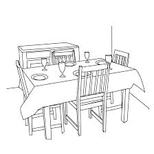 dining room table clipart black and white. Round Table Clipart Black And White Dining Letters . Room N