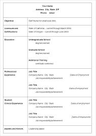 Simple Easy Resume Simple Easy Resume Template Free Download Meetwithlisa Info