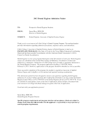 Sample Dental Hygiene Cover Letter Guamreview Com