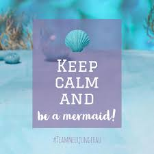 Keep Calm And Be A Mermaid Meerjungfrau Spruch Quote