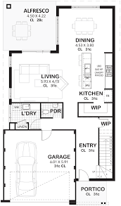Lumin - Generous Open Plan Living For Narrow Lot Perth | Vision One in 2020  | House floor plans, Narrow lot house plans, Two storey house plans