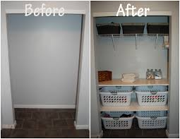laundry room closet make over
