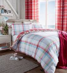saint lves check pink duvet cover set with matching curtains duvet covers with pillow