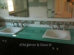 custom tempered glass vanity top ideas