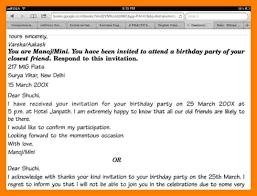 Format For Invitation 24 Informal Invitation Format Cbse Emt Resume 20